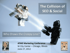 ATME Presentation The Collision of SEO and Social, Who Draws the Creepy Line?