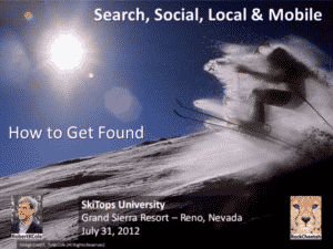 SkiTops Presentation How to Get Found - Search, Social, Local & Mobile
