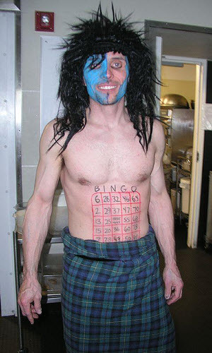 Braveheart Bingo Caller - Photo Credit: sandwichgirl (cc|flickr)