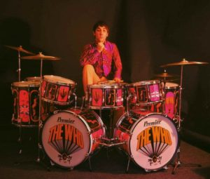 Keith Moon in 1967. Seated behind his custom Premier 'Pictures of Lily' drum kit. Photo Credit: Iburiedpaul|Flickr