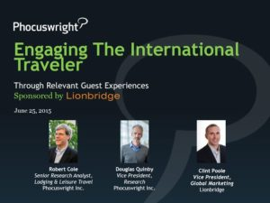 Engaging International Travelers Through Relevant Engagement